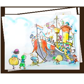 Kinderkaart - Stoomboot